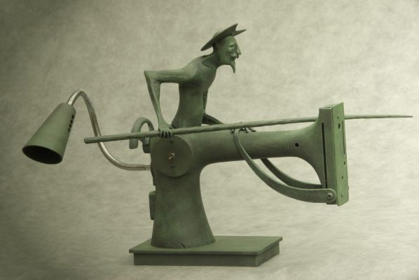 Quichote - forged sculpture - lamp (2011).