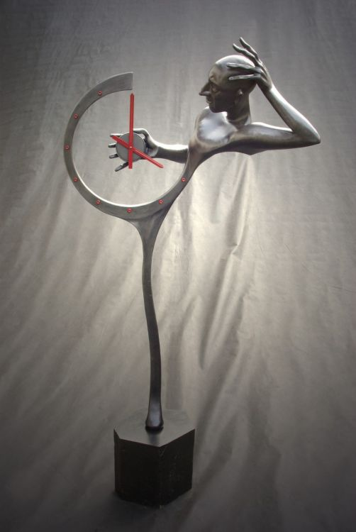 A useful forged sculpture - clocks (2010).