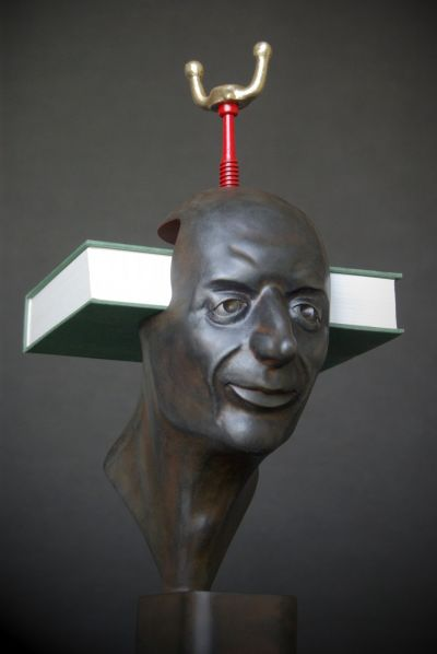 How to keep... a book, forged sculpture - life size