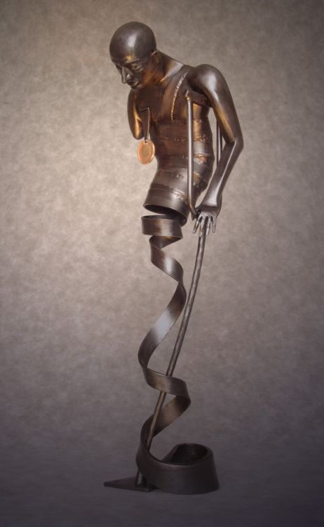 Courage - forged sculpture (2014).