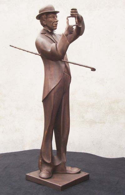 Charlie - life size forged sculpture