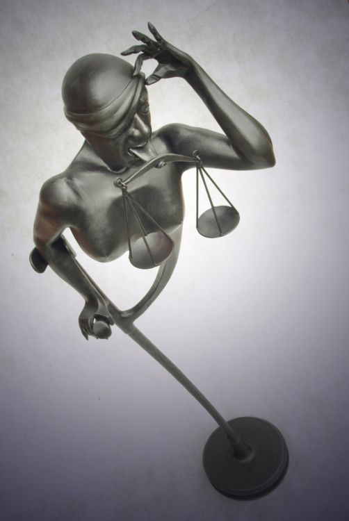 Justice - forged sculpture (2014).