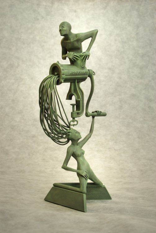 Gender - forged sculptures with figurative motif